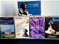 BACH BEETHOVEN BERLIOZ BIZET CLASSICAL PRERECORDED CASSETTE TAPES. SEE ALSO BATCHES 5, 6, 20, 22 +
