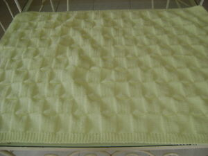 HAND-KNITTED BABY BLANKETS