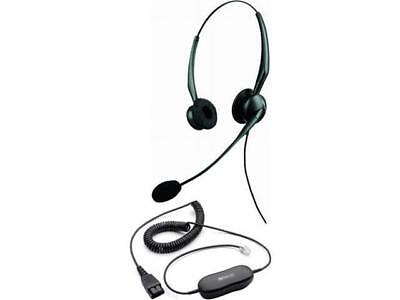 Jabra GN2125-NC Duo noise-canceling Headset with GN1200 SmartCord for Desk Phone for sale  Shipping to India