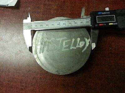 Hastelloy X Solid Round 4 Diameter X 1.30 Height 1d5
