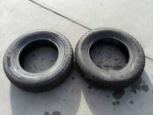 2 Cooper winter tires 205/70/15