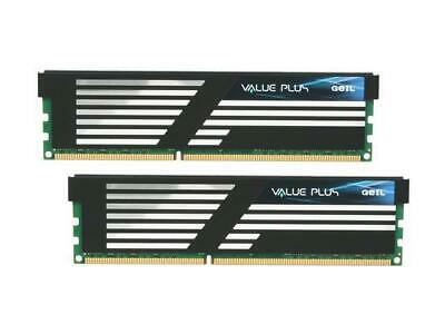 GeIL Value Plus 4GB (2 x 2GB) 240-Pin DDR3 SDRAM PC3 10660 GVP34GB1333C9DC 1.5V