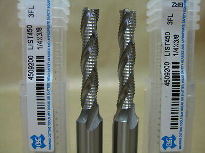 Lot 2 Osg Cobalt 14 Long Length M42 Roughing End Mill Milling Rougher Tool