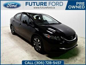 2013 Honda Civic Sdn LX SUNROOF SUPER LOW KMS! TAX PAID