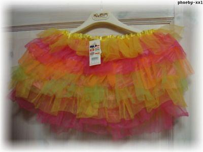 Süßer Tüllrock FEE Fasching Bunt*  Kinderrock TÜTÜ*Ballerina Kostümzubehör* NEU
