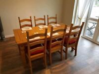 Wanted Wooden Dining table 6 chairs