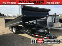 "2019 PJ 14' x 96"" Deckover Dump Trailer, 14K GVWR Winnipeg Manitoba Preview"