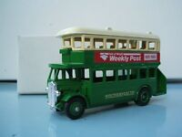 Lledo Promo Model AEC Regent D/D Bus Southern Vectis Isle of Wight Weekly Post 1975-1985