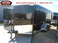 RAMP DOOR ENCLOSED TRAILER 2016 HAULIN 7 X 15' TANDEM AXLE