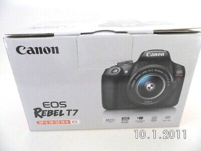 New Canon EOS Rebel T7 24.1MP EF-S 18-55 IS II Kit