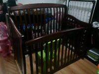 High End Tania Convertible Crib by Concord with Mattress Mobile