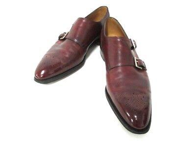 Auth JOHNLOBB Bordeaux Leather Shoes Men