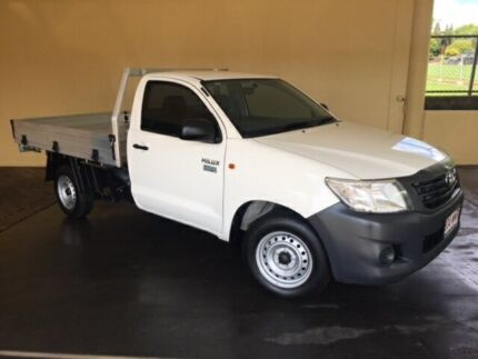 2013 Toyota Hilux TGN16R MY12 Workmate White 5 Speed Manual Cab Chassis South Toowoomba Toowoomba City Preview