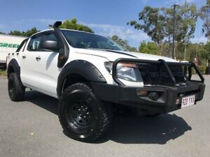 2012 Ford Ranger PX XL Double Cab White 6 Speed Manual Utility Arundel Gold Coast City Preview