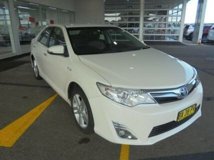 2013 Toyota Camry AVV50R Hybrid HL Pearl White Continuous Variable Sedan Belmore Canterbury Area Preview