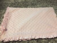 Pink baby blanket from mothercare