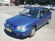 2000 Hyundai Accent LC GL Blue 5 Speed Manual Hatchback Georgetown Newcastle Area Preview
