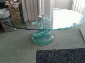 Beautiful toughened glass coffee table.