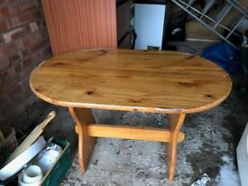 Stripped pine dining table