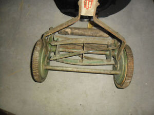 Vintage manual mower