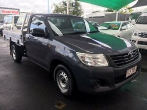 2012 Toyota Hilux TGN16R MY12 Workmate 4x2 Grey 5 Speed Manual Cab Chassis Bungalow Cairns City Preview