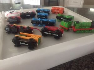 Thomas the Train toys - multiple trains and bin of tracks