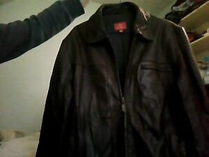 Large Cole Haan brown leather jacket