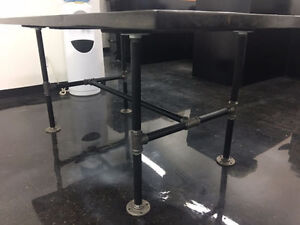 New Rustic Iron Pipe Dining Table | Steam Punk