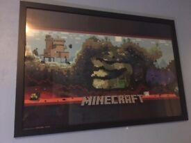 Framed Minecraft Poster