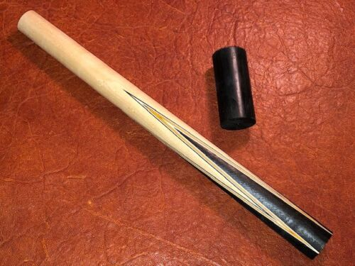 Prather 4 Myriad Point Prong Pool Cue Front. Ebony into Maple.