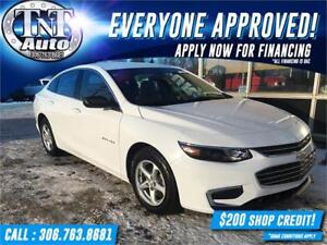 2016 Chevrolet Malibu LS WITH LOW KM! APPLY NOW! UR APPROVED!