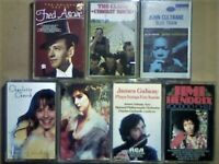 A-Z FRED ASTAIRE C CHURCH CLASH JOHN COLTRANE ENYA J GALWAY JIMI HENDRIX PRERECORDED CASSETTE TAPES