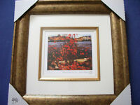 """Tom Thomson """"Lake and Red Tree 1916"""" Framed L/Edition Print"""