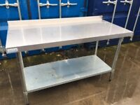 4 x Vogue stainless steel table only 12 months old. 2 x 1500mm 2 x 1800