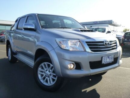 2015 Toyota Hilux KUN26R MY14 SR5 Double Cab Silver 5 Speed Manual Utility