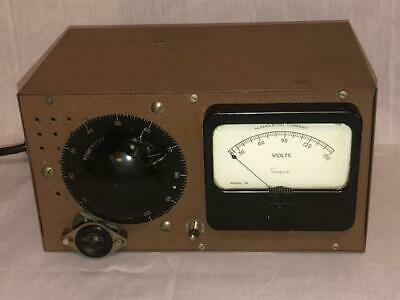 Vintage Electric Powerstat Simpson Model 59 Volt Meter Transformer Power Station