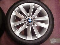 "17"" ORIGINAL BMW ALLOYS # BBS # mint condition. Powder coated finish"