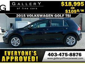 2015 Volkswagen Golf TSI $109 bi-weekly APPLY NOW DRIVE NOW