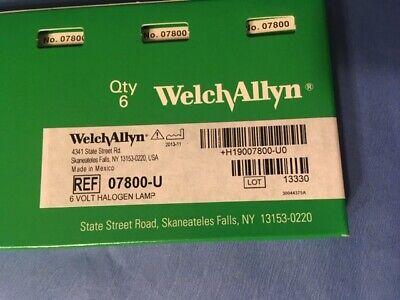 Welch Allyn 07800-u Bulbs 6 Volt Halogen 6 Bulbs In The Box