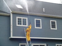 Heated Siding Washing. Removes Ash and Smoke res. CMV Hydrovac