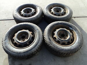 4 General Winter Tires with Rims for Camry 205/65/15