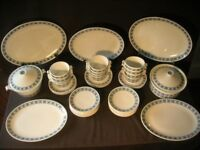Royal Tuscan 'Charade' vintage china,12 Soup Bowls with underplates,18 Tea Plates,2 Tureens PLUS