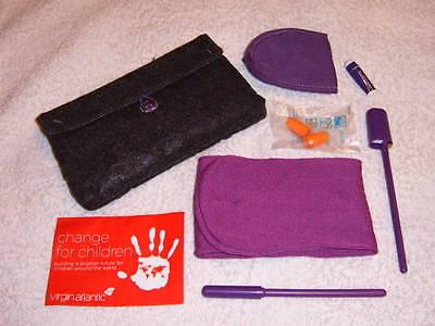 VIRGIN ATLANTIC PREMIUM ECONOMY NEW AMENITY KIT TRAVEL BAG socks mask plugs pen