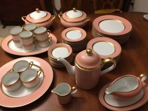FITZ AND FLOYD RENAISSANCE PEACH DINNERWARE 1978 56 Pieces