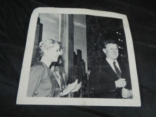 Vtg B&W Photo Reproduced Chicago Mayoral Campaign Jane Byrne W/Ted Kennedy