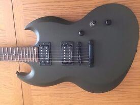 ESP Viper 100 Electric Guitar - colour = Olive Drab with Duncan Designed Pick Ups