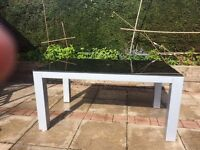 For sale glass garden table
