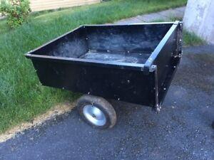 Garden Tractor Utility Trailer and Dethatcher