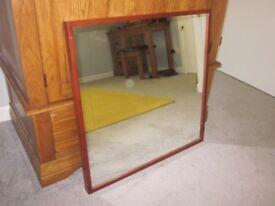 IKEA STAVE Mirror (Dark Wood Frame)