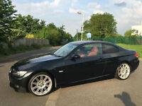 2009 59 Reg BMW 320 2.0 i M Sport Highline,BLACK,RED LEATHER,COUPE